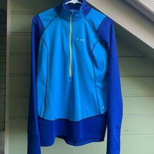 Columbia cobalt blue running jacket